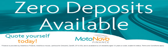 Zero Deposits Available with MotoNovo Finance
